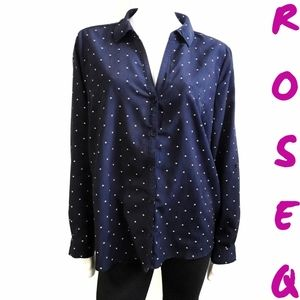 SUNG Alfred Sung navy blue starry blouse